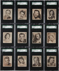 "Non-Sport Cards:Sets, 1948 Bowman ""Movie Stars"" Complete Set (36) - #1 on the SGC SetRegistry! ..."