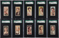Non-Sport Cards:Sets, 1955 Barber Tea Cinema & TV Stars Complete Set (25) - #2 on theSGC Set Registry....