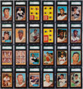 Baseball Cards:Sets, 1962 Topps Baseball High Grade Complete Set (598) With 296SGC-Graded Cards! ...