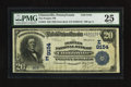 National Bank Notes:Pennsylvania, Clintonville, PA - $20 1902 Date Back Fr. 644 The Peoples NB Ch. #(E)9154. ...