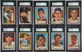 Baseball Cards:Lots, 1952 Topps Baseball High Number SGC-Graded Collection (28). ...