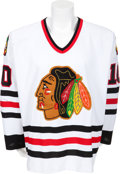 Hockey Collectibles:Uniforms, 1996-97 Tony Amonte Game Worn Chicago Blackhawks Jersey....