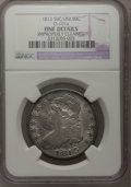 Bust Half Dollars: , 1813 50C 50C Over UNI--Improperly Cleaned--NGC Details. F. O-101a.NGC Census: (1/58). PCGS Population (0/94). Numismedia...