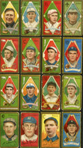 Baseball Cards:Lots, 1911 T205 Gold Border Collection (16) With Young. ...