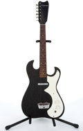 Musical Instruments:Electric Guitars, 1960s Silvertone 1448 Black Electric Guitar With Amp Case # N/A....