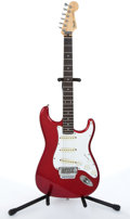 Musical Instruments:Electric Guitars, 1985 Fender Stratocaster Red Electric Guitar # E534125....