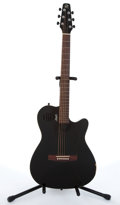 Musical Instruments:Electric Guitars, 2010 Seagull By Godin SA6 Black Electric Guitar #05102517....