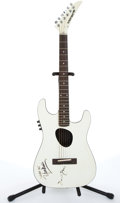 Musical Instruments:Acoustic Guitars, 1987 Kramer KFB-2 White Electric Acoustic Guitar #F A3084....