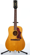 Musical Instruments:Acoustic Guitars, 1969 Gibson B-45 Natural 12-String Acoustic Guitar # 532483....