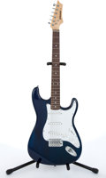 Musical Instruments:Electric Guitars, Johnson By AXL Strat Copy Blue Electric Guitar # N/A....