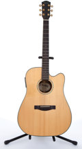 Musical Instruments:Acoustic Guitars, 2002 Fender GD47SCE Natural Acoustic Guitar #02064143....
