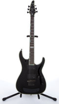 Musical Instruments:Electric Guitars, 2002 ESP LTD H-1000 Deluxe Black Electric Guitar # W0236972....