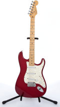 Musical Instruments:Electric Guitars, 1997 Fender Stratocaster Red Electric Guitar #N7296531....