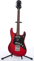 Musical Instruments:Electric Guitars, 1970s Epiphone Red Electric Guitar # N/A....
