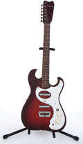 Musical Instruments:Electric Guitars, 1960s Silvertone By Kay 1148 Red Burst Electric Guitar # N/A....