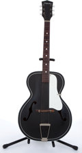 Musical Instruments:Acoustic Guitars, 1960s Silvertone By Kay 623 Black Archtop Acoustic Guitar # N/A....