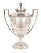 MALCOLM S. FORBES COLLECTION: GEORGE III SILVER AND SILVER GILT TWO-HANDLED PRESENTATION CUP AND COVER John Scofield (Sc...
