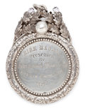 Silver Holloware, British:Holloware, MALCOLM S. FORBES COLLECTION: VICTORIAN SCOTTISH SILVER AND CUTGLASS BOWLS MEDALLION DATED 1867. Daniel Sutherland, Glasgo...
