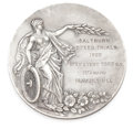 Silver Holloware, British:Holloware, MALCOLM S. FORBES COLLECTION: ENGLISH SILVER MEDALLION AWARDED TOMALCOLM CAMPBELL BY THE YORKSHIRE AUTOMOBILE CLUB AT SALTBU...