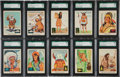 "Non-Sport Cards:Sets, 1959 Fleer ""Indian Trading Cards"" High Grade Partial Set (60/80) -Every Card SGC 88 NM/MT 8 to SGC 98 Gem MT 10!..."