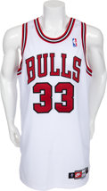 Basketball Collectibles:Uniforms, 1997-98 Scottie Pippen Game Worn Chicago Bulls Jersey....