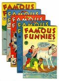 Golden Age (1938-1955):Miscellaneous, Famous Funnies Group (Eastern Color, 1945).... (Total: 5 Comic Books)