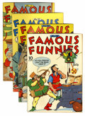 Golden Age (1938-1955):Miscellaneous, Famous Funnies Group (Eastern Color, 1943-44).... (Total: 4 Comic Books)