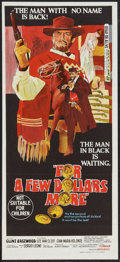 """Movie Posters:Western, For a Few Dollars More (United Artists, 1967). Australian Daybill (13.5"""" X 30""""). Western.. ..."""