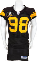 Football Collectibles:Uniforms, 2007 Casey Hampton Game Worn Pittsburgh Steelers Jersey....