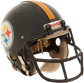 Football Collectibles:Helmets, Circa 1978-80 Larry Anderson Game Worn Pittsburgh Steelers Helmet....
