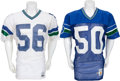 Football Collectibles:Uniforms, Mid 1980's Game Worn Seattle Seahawks Jerseys Lot of 2....