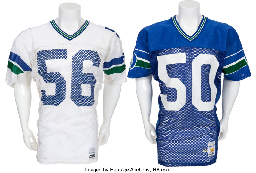 best sneakers 186a6 d6a95 Mid 1980's Game Worn Seattle Seahawks Jerseys Lot of 2 ...
