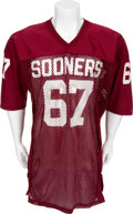 Football Collectibles:Uniforms, Mid-1980's Game Worn Oklahoma Sooners Jersey....