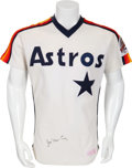 Baseball Collectibles:Uniforms, 1986 Jose Cruz Game Worn Houston Astros Jersey....