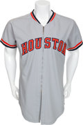 Baseball Collectibles:Uniforms, 1974 Johnny Edwards Game Worn Houston Astros Jersey....