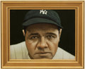 Baseball Collectibles:Others, 2007 Babe Ruth Original Artwork by Arthur Miller....