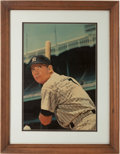 Autographs:Others, 1967 Mickey Mantle Post Cereal Advertising Sign, Autographed....