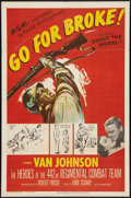 "Movie Posters:War, Go for Broke! (MGM, 1951). One Sheet (27"" X 41""). War.. ..."