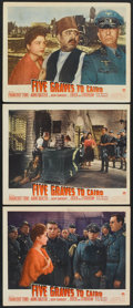 "Movie Posters:War, Five Graves to Cairo (Paramount, 1943). Lobby Cards (3) (11"" X14""). War.. ... (Total: 3 Items)"