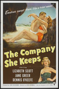 "Movie Posters:Drama, The Company She Keeps (RKO, 1951). One Sheet (27"" X 41""). Drama.. ..."
