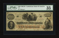 Confederate Notes:1862 Issues, T41 $100 1862 - Felix Senac Paymaster.. ...