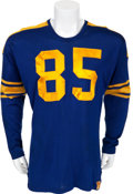 Football Collectibles:Uniforms, 1955 Hank Gremminger Game Worn East West Shrine Game Jersey, Patch and Team Signed Program....
