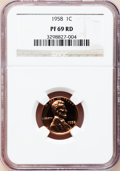 Proof Lincoln Cents: , 1958 1C PR69 Red NGC. NGC Census: (33/0). PCGS Population (1/0). Mintage: 875,652. Numismedia Wsl. Price for problem free N...