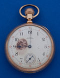 Timepieces:Pocket (post 1900), Waltham 14 Size 17 Jewel 14k Gold Amn. Grade Pocket Watch. ...