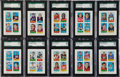 Football Cards:Sets, 1969 Topps Football 4 in 1 SGC-Graded Collection (43) - All 84 NM 7 to 96 Mint 9. ...