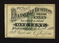 Obsoletes By State:Indiana, Evansville, IN- Evansville Business College 1¢ Feb. 2, 1880. ...