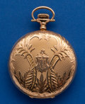 Timepieces:Pocket (post 1900), Waltham 14k Gold 16 Size Hunter's Case Pocket Watch. ...