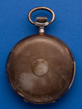 Timepieces:Pocket (post 1900), Swiss .875 Silver 53 mm Quarter Hour Repeating Hunter's Case PocketWatch . ...