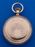 Timepieces:Pocket (post 1900), Rockford 18 Size Sharp Gold Filled Transitional Pocket Watch. ...