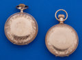 Timepieces:Pocket (post 1900), Two 18 Size Gold Filled Hunter's Cases Pocket Watches Runners. ... (Total: 2 Items)